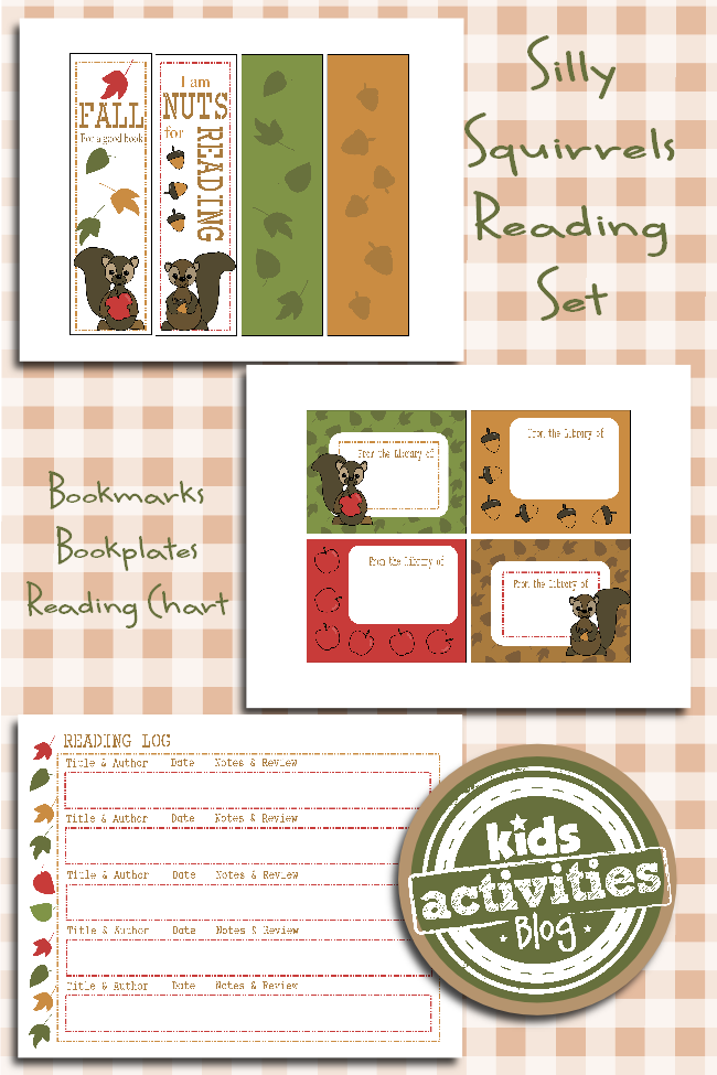 """Printable Reading Set for Kids – """"Fall for a Good Book"""""""