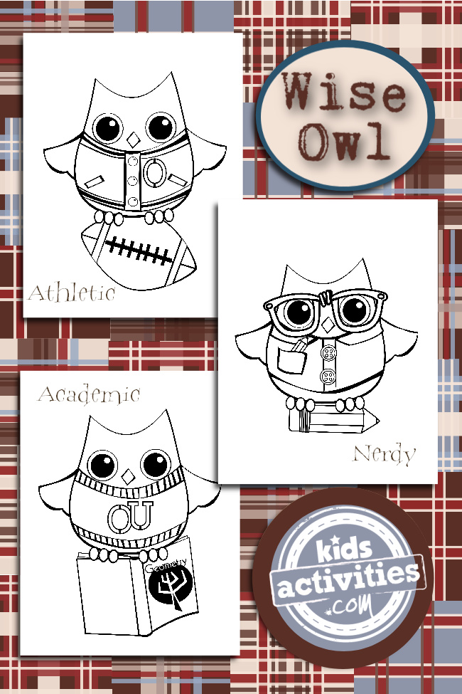 Download & Print These Cute Wise Old Owl Coloring Pages