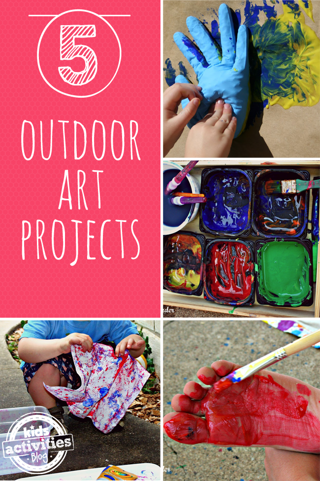 5 {Outdoor} Kids Art Projects