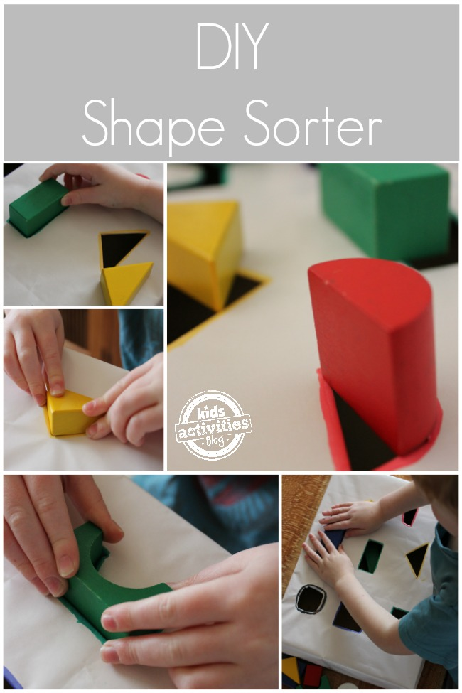 Easy diy shape sorter