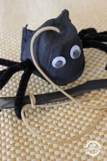 Halloween craft for kids - spider