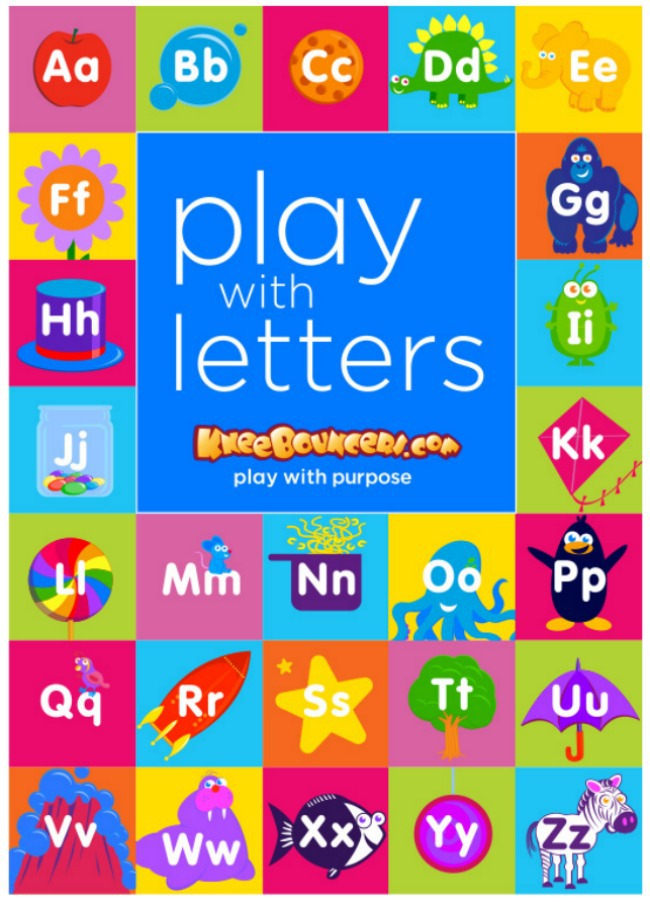 KneeBouncers Play with Letters