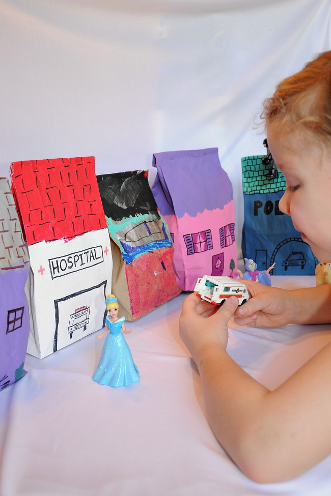 Dramatic Play Time! Make a Pretend City with Paper Bags