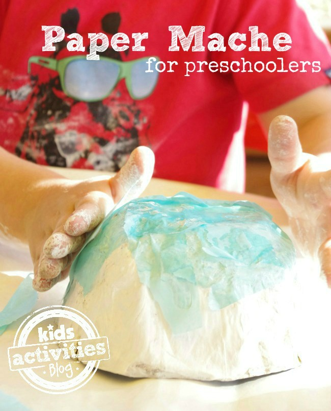 How to Make a Paper Mache Bowl - Activities for Preschoolers