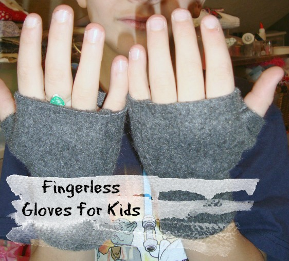 make a fingerless gloves pattern for kids
