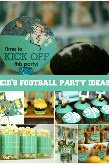 kids football party ideas