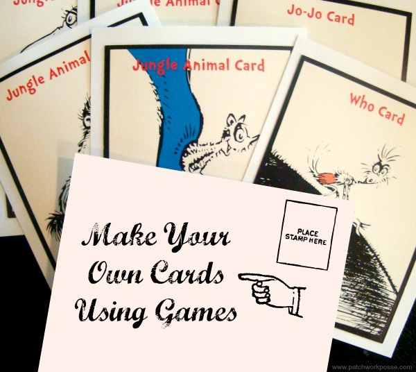 Make your own cards using games tutorial