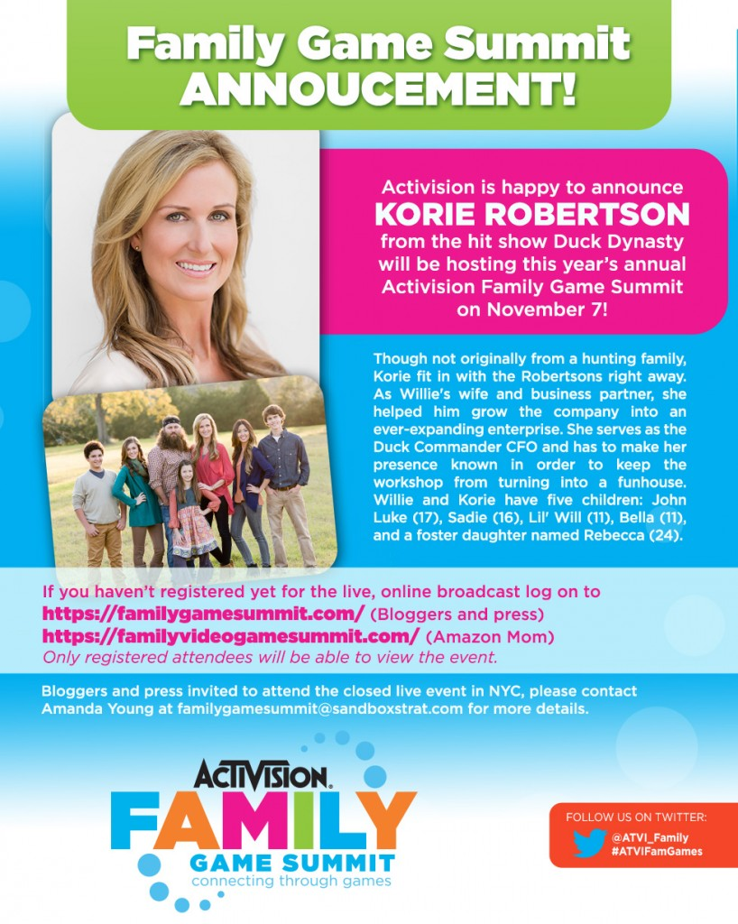 Activision Family Game Summit Host Announcement