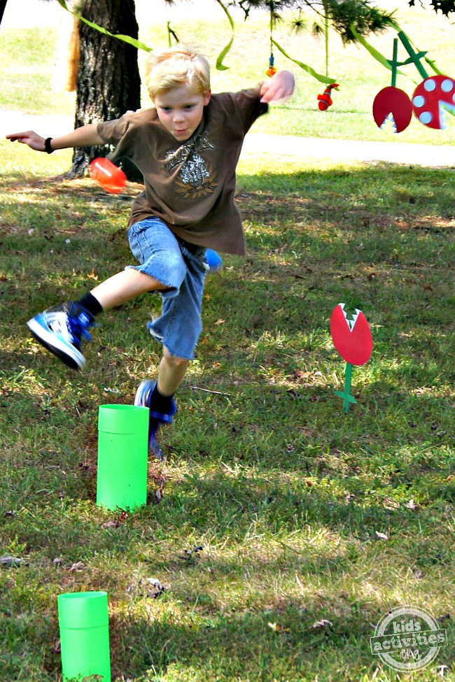 DIY Super Mario Party with Obstacle Course featured on Kids Activities Blog