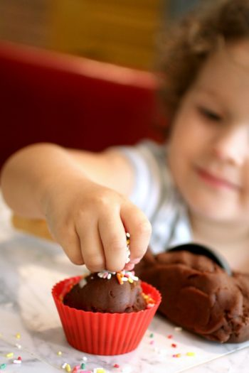Homemade Chocolate Ice Cream Play Dough for Kids