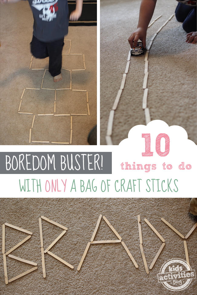 10 Fun Indoor Activities with Nothing But A Bag of Craft Sticks