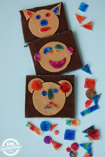 Make a felt shape box for kids