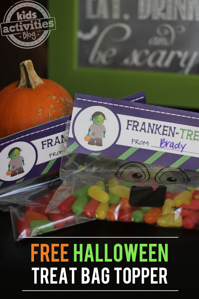 Halloween Treat Bag Printable - Franken-Treats!