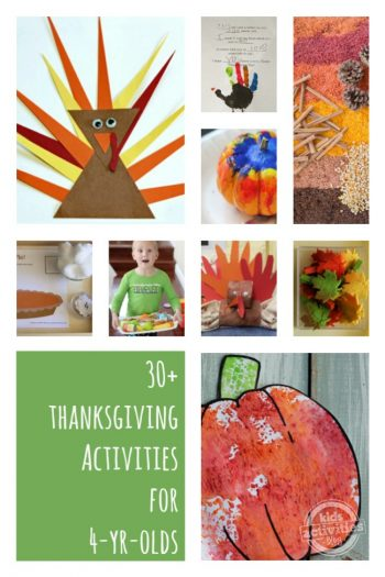 30 Thanksgiving Activities for 4 Year Olds featured on Kids Activities Blog
