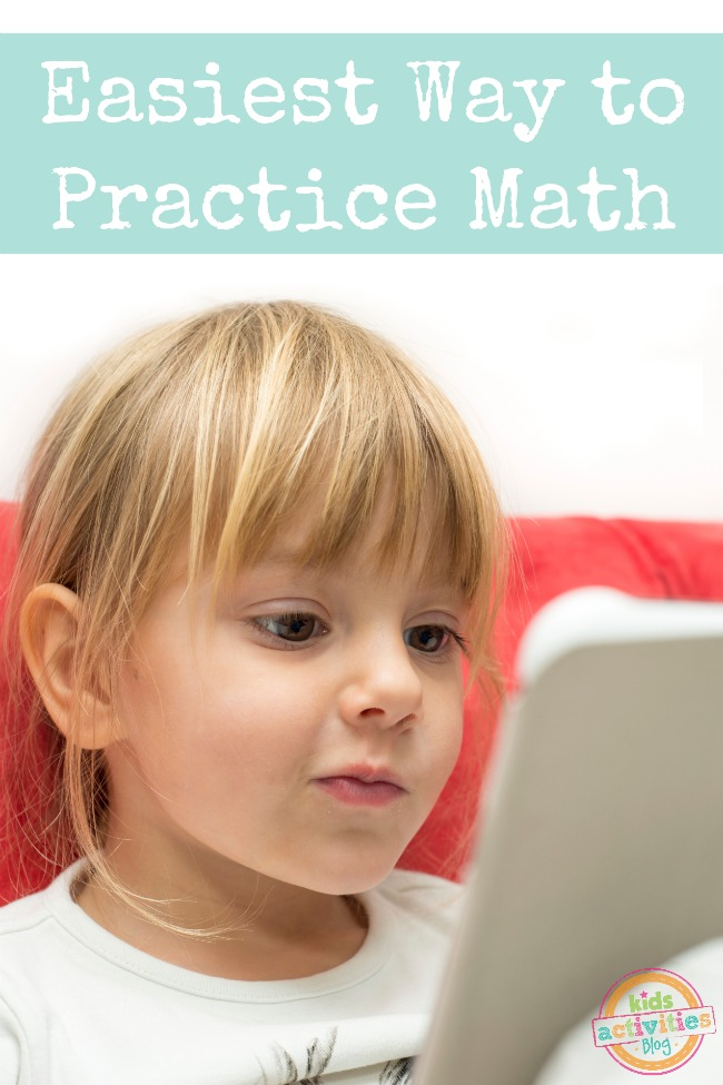 Easiest Way to Practice Math featured on Kids Activities Blog