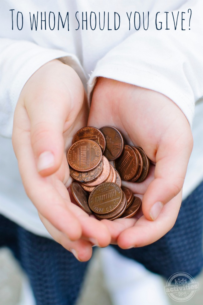 How to Choose a Charity - To Whom Should You Give - Kids Activities Blog