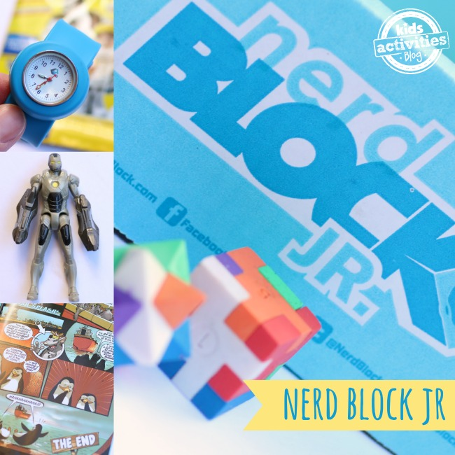 Nerd Block Jr Subscription Box contents