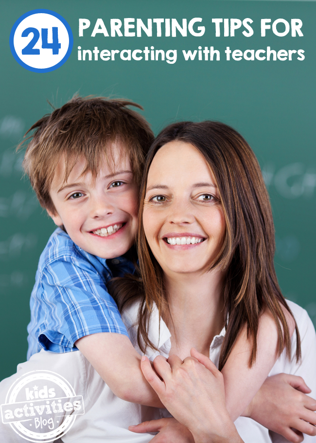 24 Parenting Tips for Interacting with Teachers