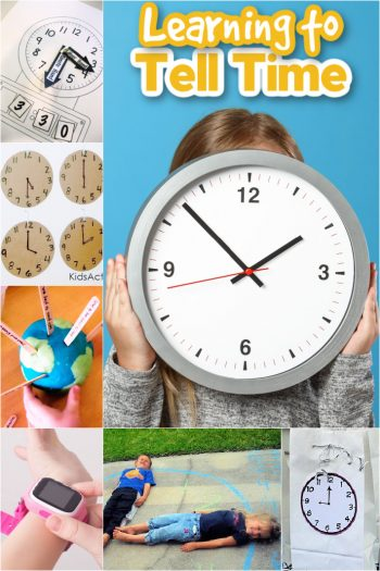 Learning to tell time with 10 telling time activities for kids - Kids Activities Blog feature