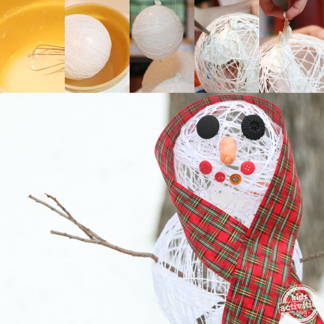 Make a Sugar String Snowman - Kids Activities Blog