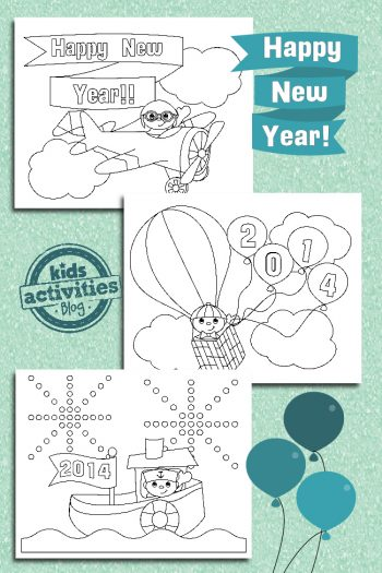 New Years Coloring Pages for Kids