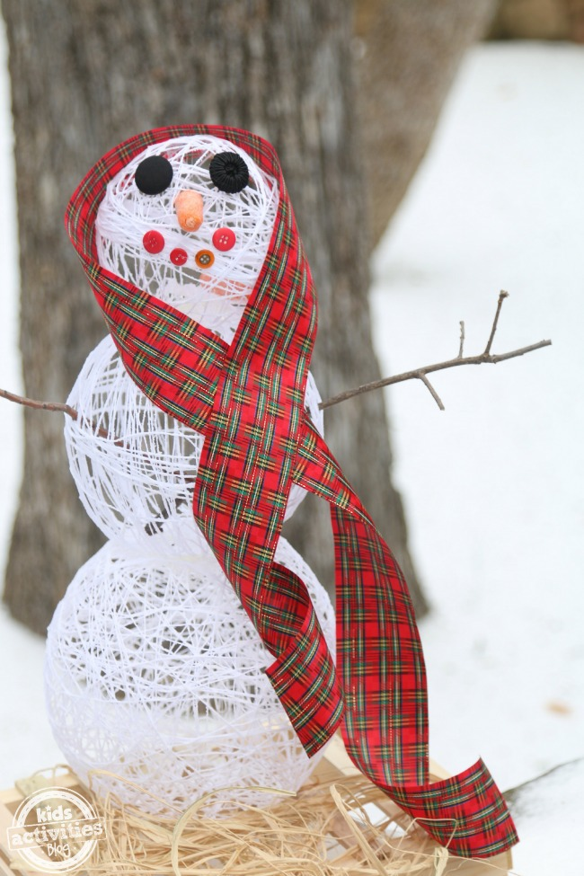 Sugar String Snowman - Kids Activities Blog
