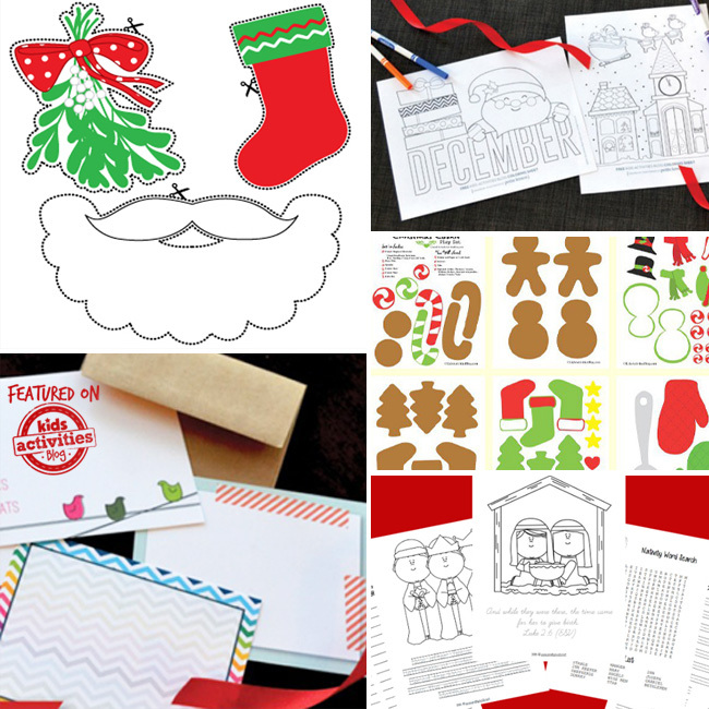 free christmas printables - Christmas activities, crafts and worksheets you can print
