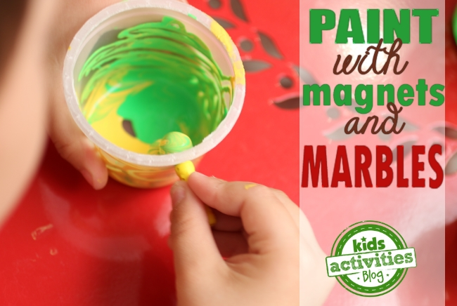 paint with marbles