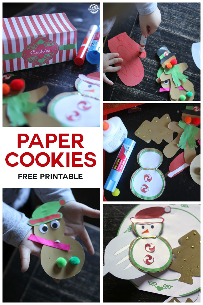 Christmas Printables {Absolutely the Cutest Things I Have Ever Seen} - how my kids decorated this printable set -- see the glitter, markers and plate with spatula