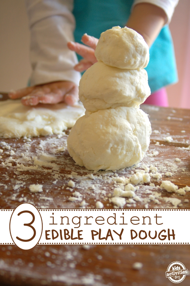 3 ingredient edible play dough for tots