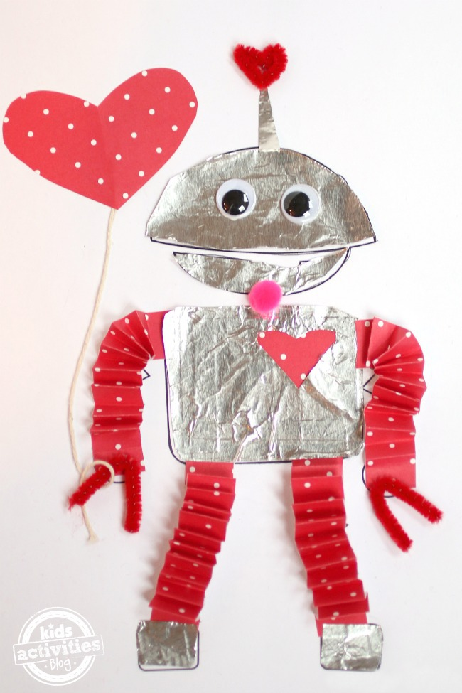 Valentines Day coloring pages for kids - Kids Activities Blog - robot
