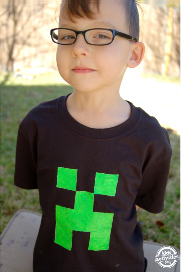Your Child Will Love Making This Awesome Minecraft Creeper Shirt