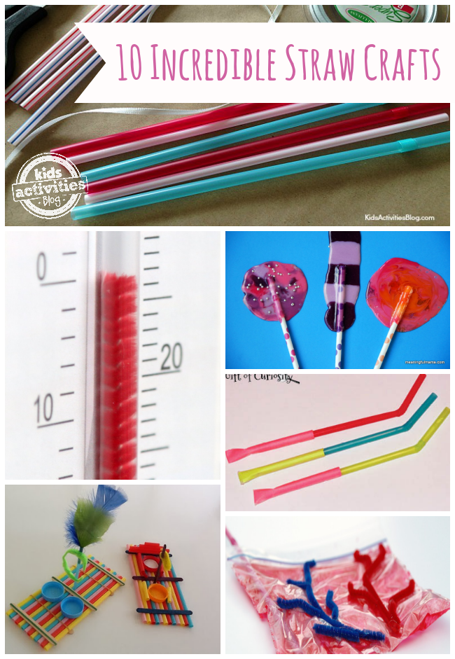 10 {Incredible} Straw Crafts