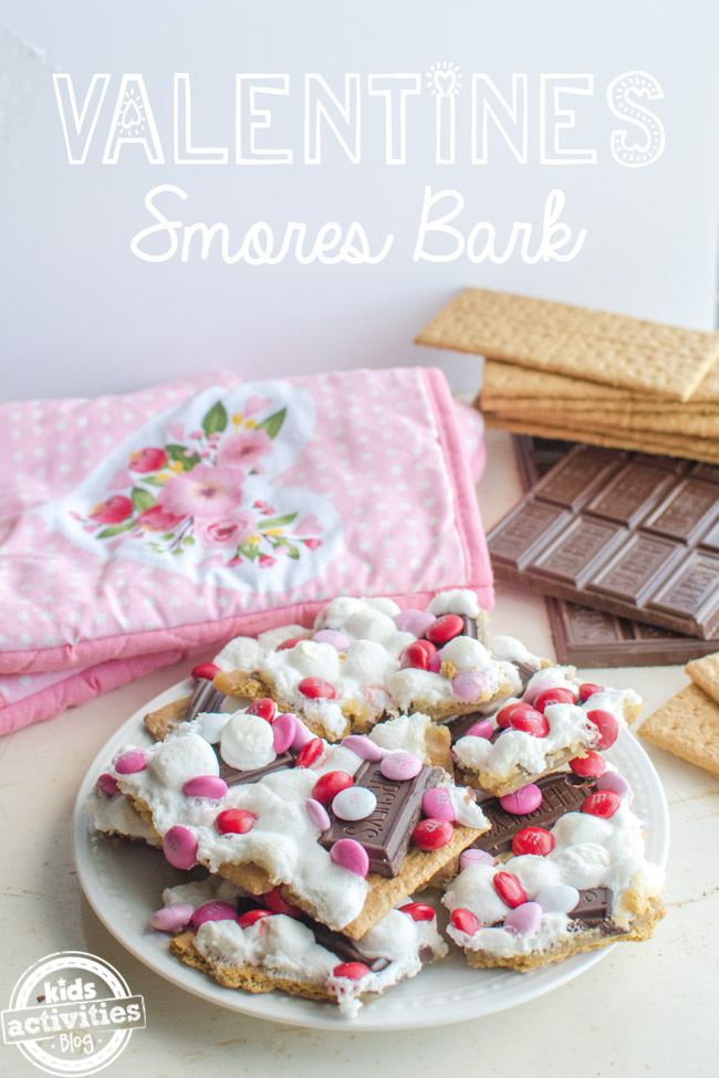 Valentine's Day S'mores Bark Dessert Recipe