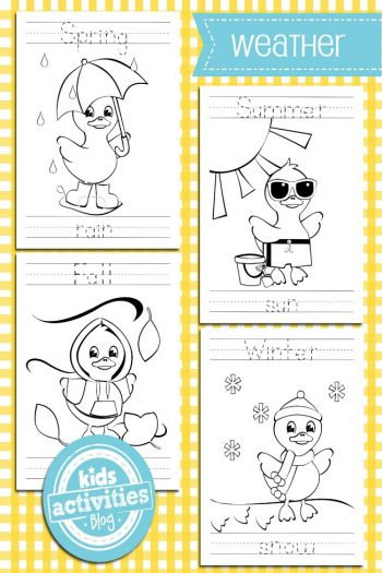 weather coloring pages - Kids Activities Blog