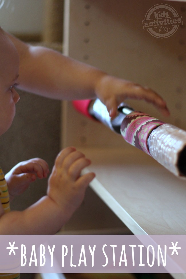 Make a Baby Play Station to Keep Baby Entertained