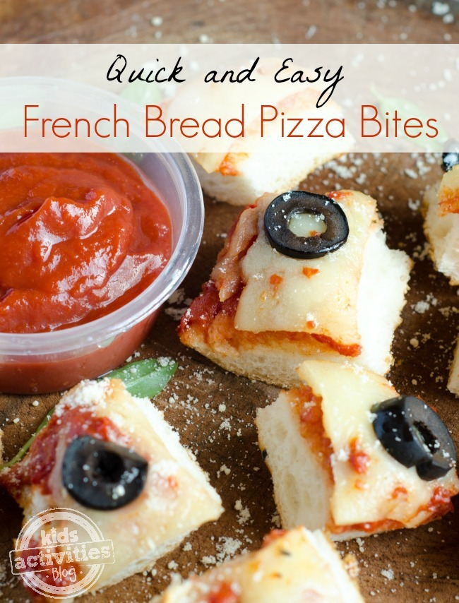 French Bread Pizza Bites - easy family meal - Kids Activities Blog