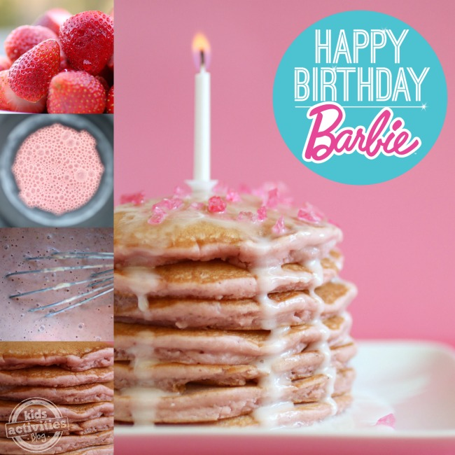 Happy Birthday Barbie - Pink Pancake collage - Kids Activities Blog