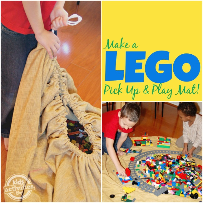 Make a LEGO Pick Up and Play Mat - Kids Activities Blog