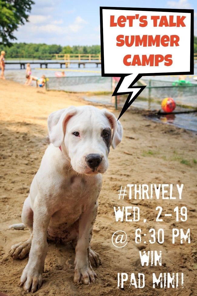 summer camp twitter party with Thrively