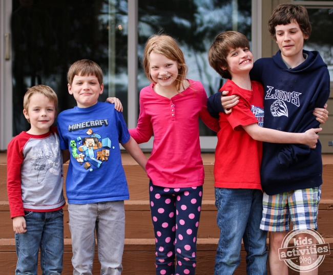 taking a group kid portrait - Kids Activities Blog