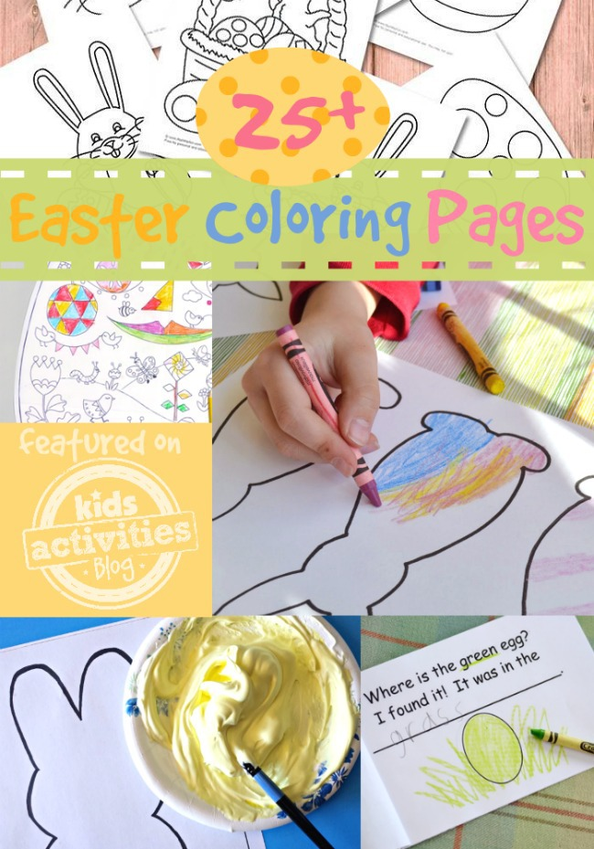 25 Easter Coloring Pages featured on Kids Activities Blog
