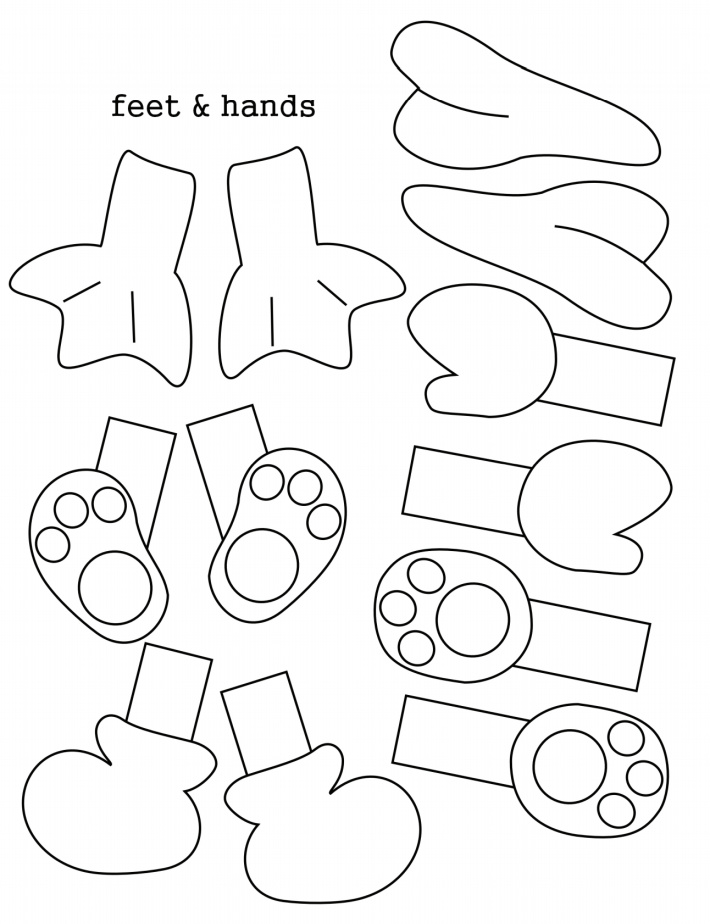 Easter Egg Body Parts - Feet and Hands - Printable Templates