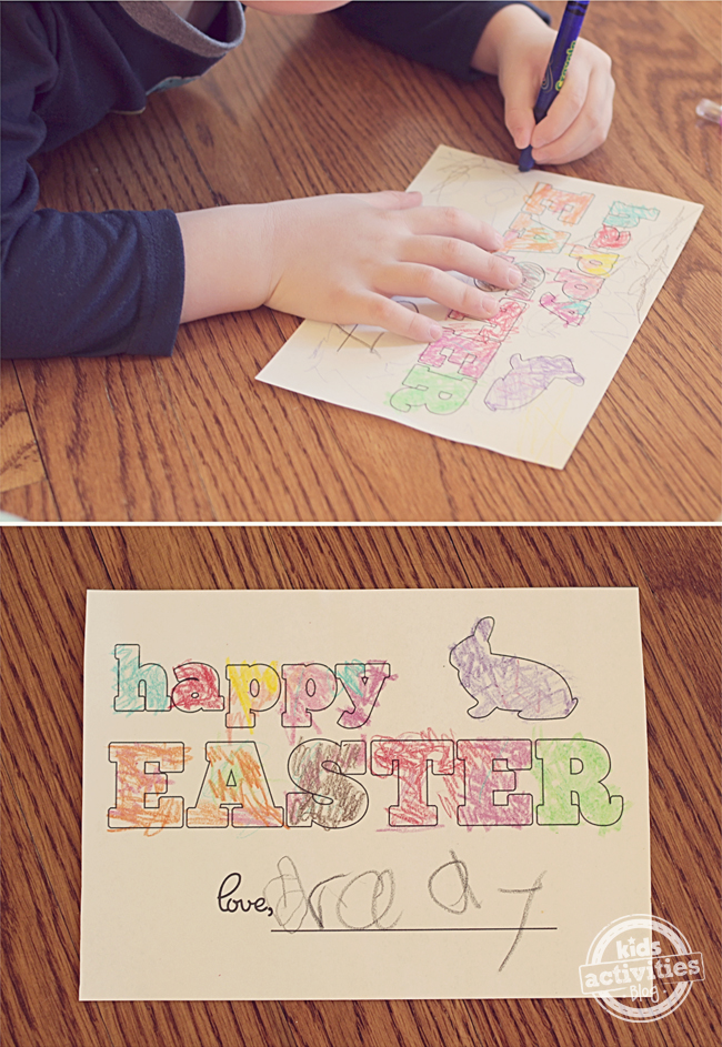 Happy Easter Card for Kids to Decorate