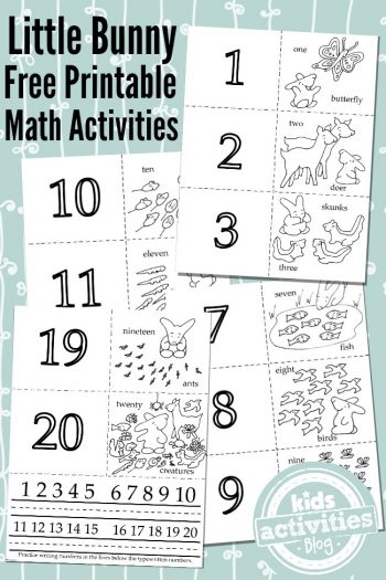 Little Bunny Free Printable Math Activities