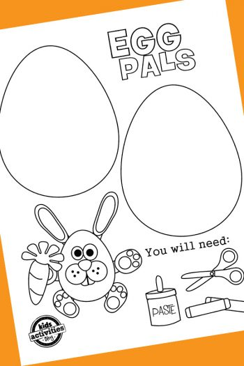 easter coloring page craft