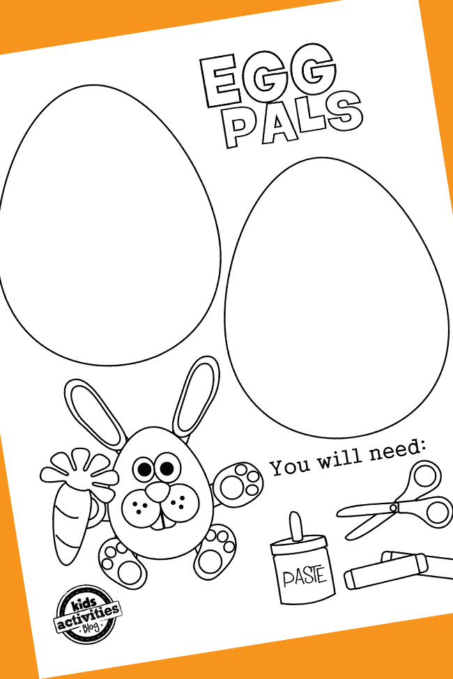 Cutest Printable Easter Egg Coloring Pages Paper Craft