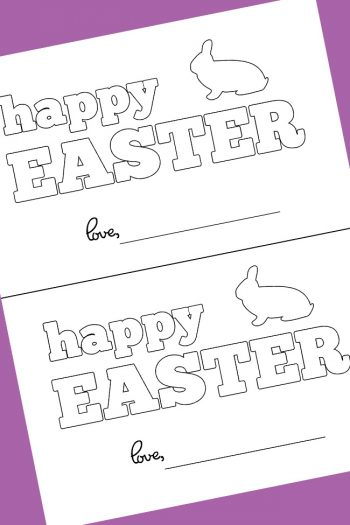 homemade easter card coloring page