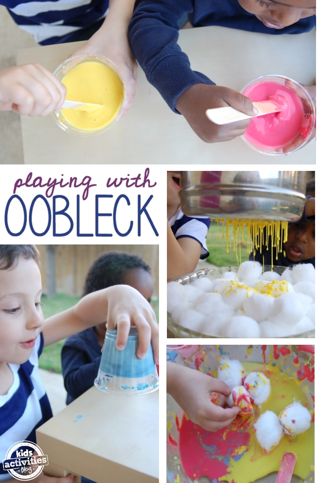 ways to make and play with oobleck