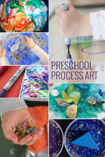 process art for toddlers and preschoolers